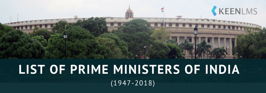 List of Prime Ministers of India | KEEN LMS